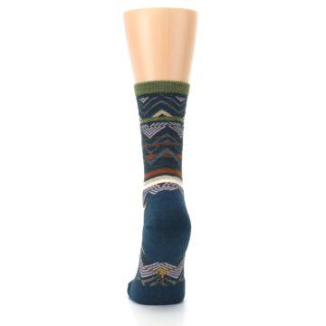 Image of Blue Green Ripple Creek Wool Women's Casual Socks (back-18)