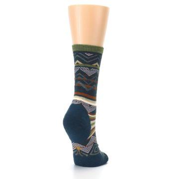 Image of Blue Green Ripple Creek Wool Women's Casual Socks (side-1-back-21)