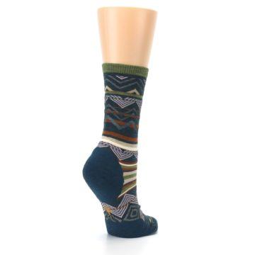 Image of Blue Green Ripple Creek Wool Women's Casual Socks (side-1-back-22)