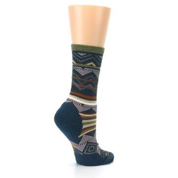 Image of Blue Green Ripple Creek Wool Women's Casual Socks (side-1-23)