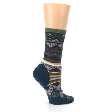 Image of Blue Green Ripple Creek Wool Women's Casual Socks (side-1-24)