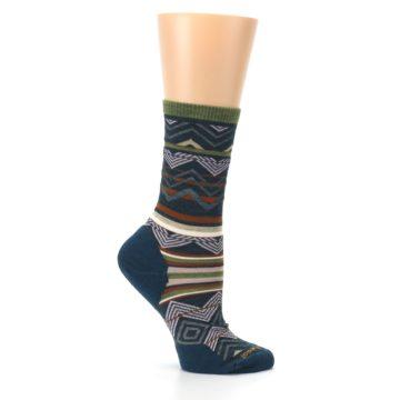 Image of Blue Green Ripple Creek Wool Women's Casual Socks (side-1-25)