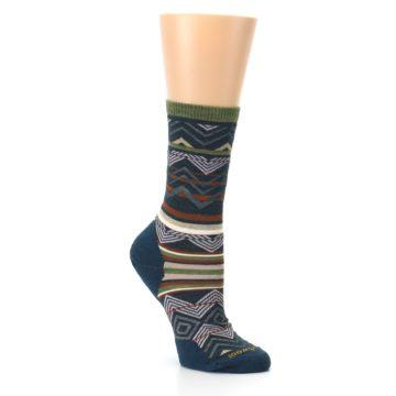 Image of Blue Green Ripple Creek Wool Women's Casual Socks (side-1-27)