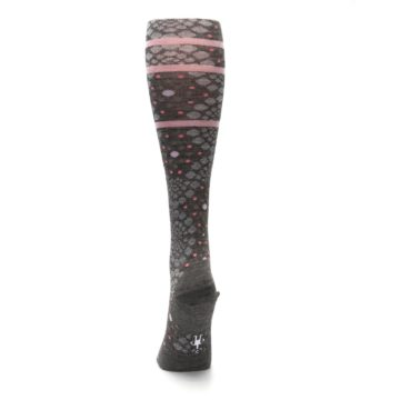 Image of Taupe Pink Pompeii Dots Wool Women's Knee High Socks (back-18)