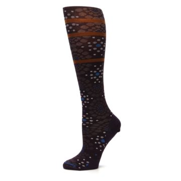 Image of Purple Pompeii Dots Wool Women's Knee High Socks (side-2-11)