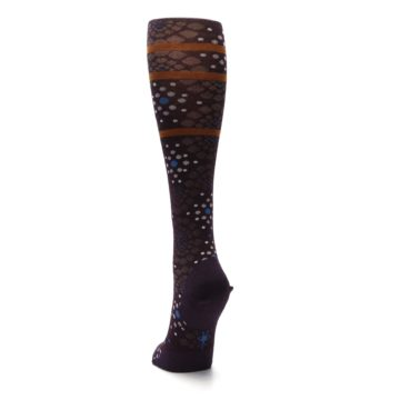 Image of Purple Pompeii Dots Wool Women's Knee High Socks (back-17)