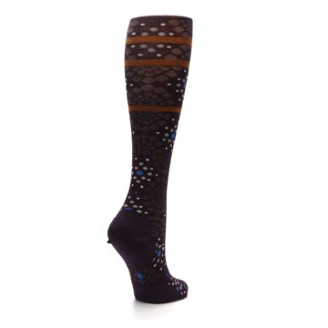 Image of Purple Pompeii Dots Wool Women's Knee High Socks (side-1-back-22)