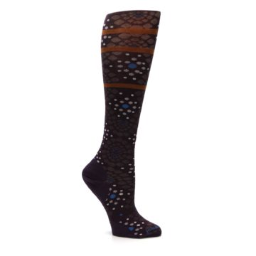 Image of Purple Pompeii Dots Wool Women's Knee High Socks (side-1-26)