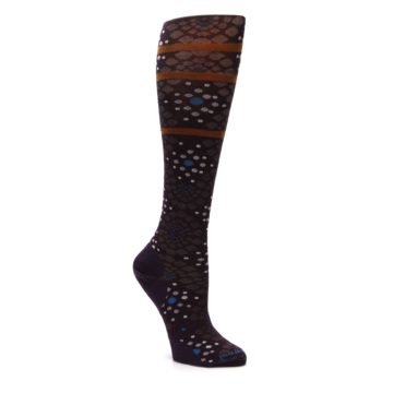 Image of Purple Pompeii Dots Wool Women's Knee High Socks (side-1-27)