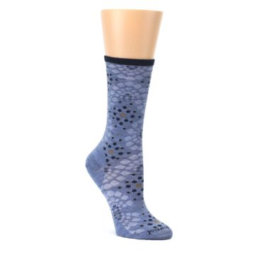Blue-Navy-Pompeii-Dots-Wool-Womens-Casual-Socks-Smartwool