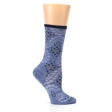 Image of Blue Navy Pompeii Dots Wool Women's Casual Socks (side-1-25)