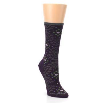 Image of Purple Green Pompeii Dots Wool Women's Casual Socks (side-1-front-02)