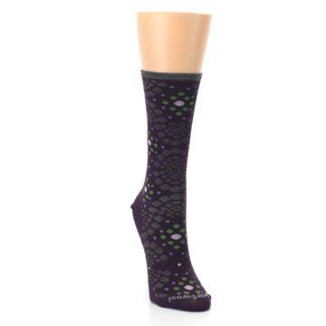 Image of Purple Green Pompeii Dots Wool Women's Casual Socks (side-1-front-03)