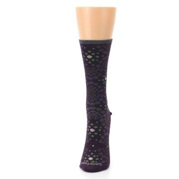 Image of Purple Green Pompeii Dots Wool Women's Casual Socks (side-2-front-06)