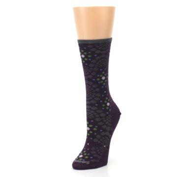 Image of Purple Green Pompeii Dots Wool Women's Casual Socks (side-2-front-08)
