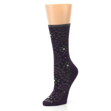 Image of Purple Green Pompeii Dots Wool Women's Casual Socks (side-2-09)