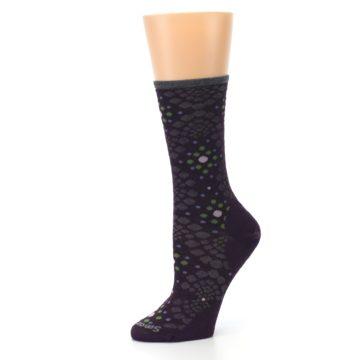 Image of Purple Green Pompeii Dots Wool Women's Casual Socks (side-2-10)