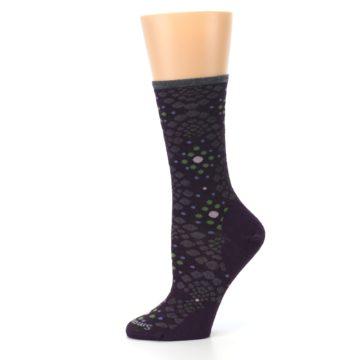 Image of Purple Green Pompeii Dots Wool Women's Casual Socks (side-2-11)