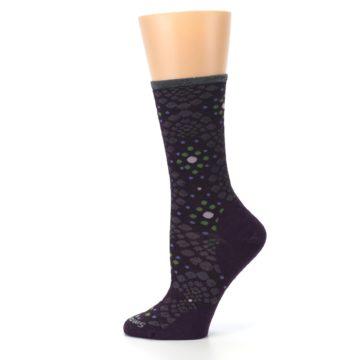Image of Purple Green Pompeii Dots Wool Women's Casual Socks (side-2-12)