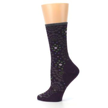 Image of Purple Green Pompeii Dots Wool Women's Casual Socks (side-2-13)