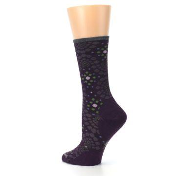Image of Purple Green Pompeii Dots Wool Women's Casual Socks (side-2-back-14)