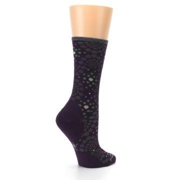 Image of Purple Green Pompeii Dots Wool Women's Casual Socks (side-1-23)