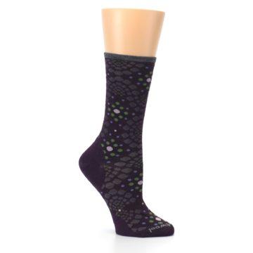 Image of Purple Green Pompeii Dots Wool Women's Casual Socks (side-1-26)