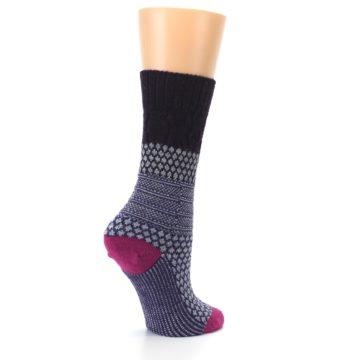 Image of Purple Popcorn Cable Wool Women's Casual Socks (side-1-23)