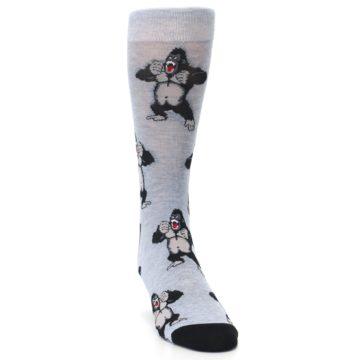 Image of Light Blue Gorilla Men's Dress Sock (side-1-front-03)