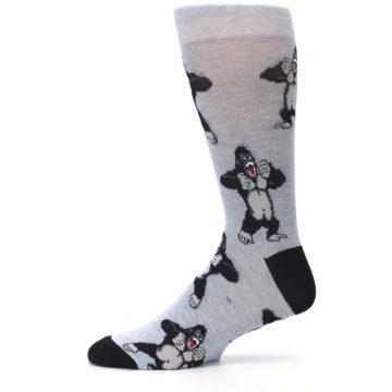 Image of Light Blue Gorilla Men's Dress Sock (side-2-11)
