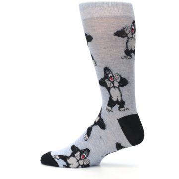 Image of Light Blue Gorilla Men's Dress Sock (side-2-12)