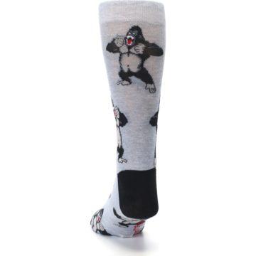 Image of Light Blue Gorilla Men's Dress Sock (back-17)