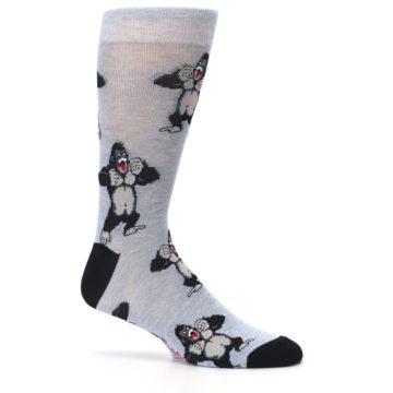 Image of Light Blue Gorilla Men's Dress Sock (side-1-25)