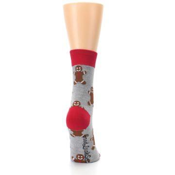 Image of Gray Brown Gingerbread Man Women's Dress Sock (side-1-back-20)