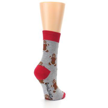 Image of Gray Brown Gingerbread Man Women's Dress Sock (side-1-back-22)