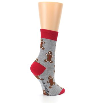 Image of Gray Brown Gingerbread Man Women's Dress Sock (side-1-23)