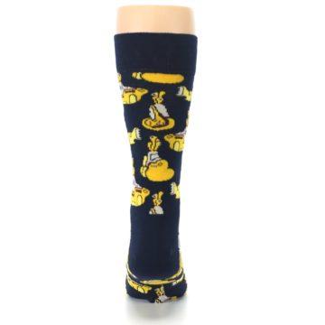 Image of Yellow Submarine The Beatles Men's Dress Socks (back-18)