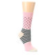 Pink-Charcoal-Dot-Stripe-Womens-Dress-Socks-Happy-Socks