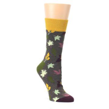 Brown-Autumn-Falling-Leaves-Womens-Dress-Socks-Happy-Socks