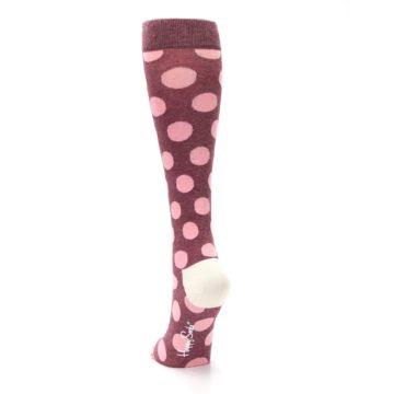 Image of Pink Polka Dot Women's Knee High Socks (back-17)