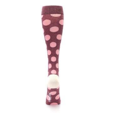 Image of Pink Polka Dot Women's Knee High Socks (back-19)