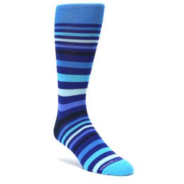 Blues-Stripe-Mens-Dress-Socks-Unsimply-Stitched