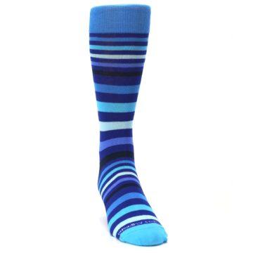 Image of Blues Stripe Men's Dress Socks (side-1-front-03)