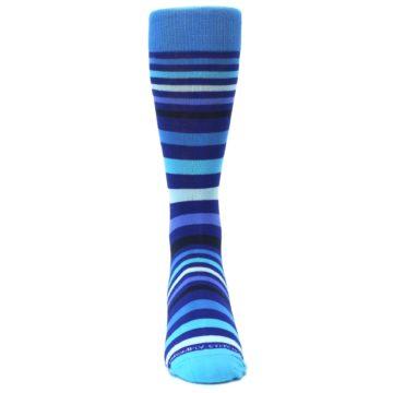 Image of Blues Stripe Men's Dress Socks (front-04)