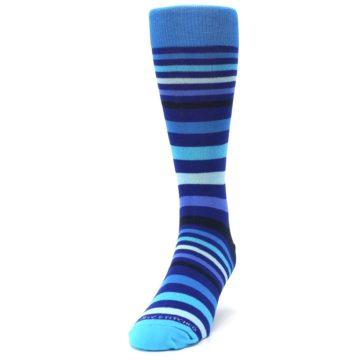 Image of Blues Stripe Men's Dress Socks (side-2-front-06)