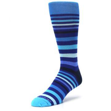 Image of Blues Stripe Men's Dress Socks (side-2-front-08)