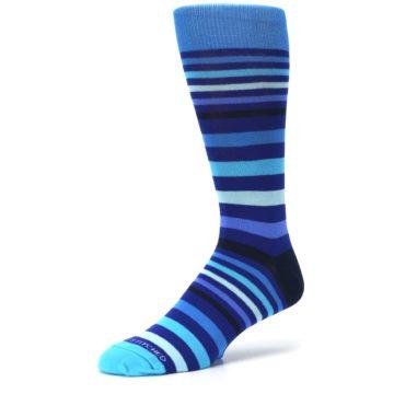 Image of Blues Stripe Men's Dress Socks (side-2-09)