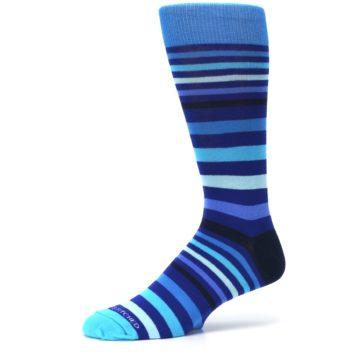 Image of Blues Stripe Men's Dress Socks (side-2-10)