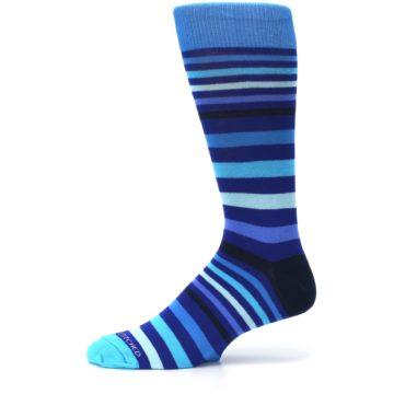 Image of Blues Stripe Men's Dress Socks (side-2-11)