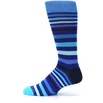 Image of Blues Stripe Men's Dress Socks (side-2-12)